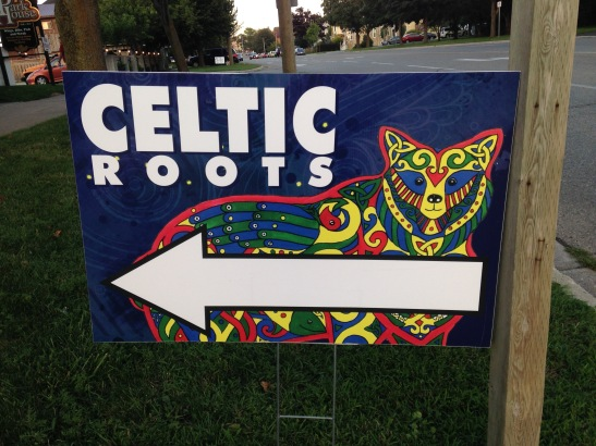 celtic fest sign